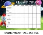 a childs reward or chore chart... | Shutterstock .eps vector #282551456