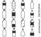 bottle icons set | Shutterstock .eps vector #282553940
