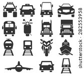 front side transportation icons ... | Shutterstock .eps vector #282553958