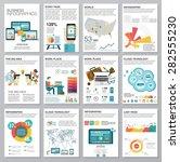 big set of infographics... | Shutterstock .eps vector #282555230