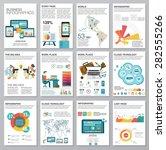 big set of infographics... | Shutterstock .eps vector #282555266