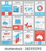 big set of infographics... | Shutterstock .eps vector #282555293