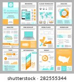 big set of infographics... | Shutterstock .eps vector #282555344