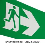 emergency exit sign   Shutterstock . vector #28256539