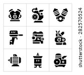 set icons of motor and engine... | Shutterstock .eps vector #282570524