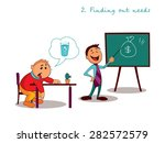 manager explains the benefits... | Shutterstock .eps vector #282572579