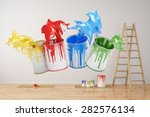 wall during renovation with...   Shutterstock . vector #282576134