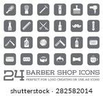 set of vector barber shop... | Shutterstock .eps vector #282582014