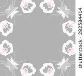 circular  seamless pattern of ... | Shutterstock .eps vector #282584414