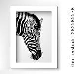 Artwork Head Profile Zebra ...
