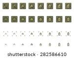 vector military rank icon set...   Shutterstock .eps vector #282586610