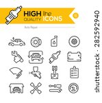 auto repair line icons  | Shutterstock .eps vector #282592940