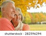 beautiful happy old people in... | Shutterstock . vector #282596294