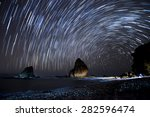 Star Trails.  Stacking Of Long...