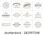 set of vector construction... | Shutterstock .eps vector #282597248