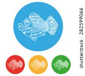 cute fish icons set  detailed... | Shutterstock .eps vector #282599066