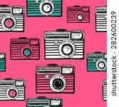 vintage camera vector pattern | Shutterstock .eps vector #282600239