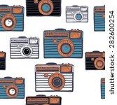 vintage camera vector pattern | Shutterstock .eps vector #282600254