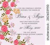 wedding invitation card | Shutterstock .eps vector #282603950