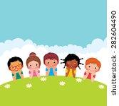 stock cartoon illustration of a ... | Shutterstock . vector #282604490