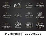 set of vector e commerce icons... | Shutterstock .eps vector #282605288