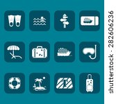 traveling  icons set for web...