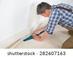 close up of a craftsman fitting ... | Shutterstock . vector #282607163