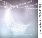 ornamental moon with bokeh... | Shutterstock .eps vector #282611204