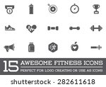 set of vector fitness aerobics... | Shutterstock .eps vector #282611618