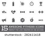 set of vector fitness aerobics...   Shutterstock .eps vector #282611618