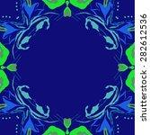 circular  seamless pattern of ... | Shutterstock . vector #282612536