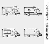 set of transport monochrome... | Shutterstock .eps vector #282613214