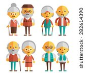 vector set of characters in a... | Shutterstock .eps vector #282614390