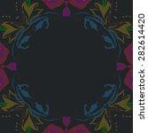 circular  seamless pattern of ... | Shutterstock . vector #282614420