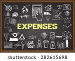 doodles about expenses on... | Shutterstock .eps vector #282615698