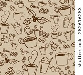 coffee illustration background. ... | Shutterstock .eps vector #282616283