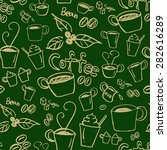 coffee illustration background. ... | Shutterstock .eps vector #282616289