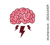 brainstorming creative idea... | Shutterstock .eps vector #282616409