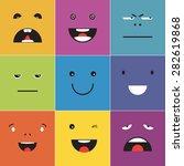 vector creative cartoon style... | Shutterstock .eps vector #282619868