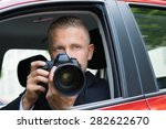 close up of a male driver... | Shutterstock . vector #282622670