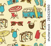 retro summer vacation seamless... | Shutterstock .eps vector #282622850