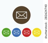 simple closed envelope icon. | Shutterstock .eps vector #282624740
