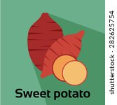 sweet potato vector icon | Shutterstock .eps vector #282625754