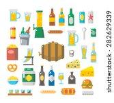 flat design of beer items set... | Shutterstock .eps vector #282629339