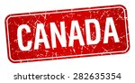 canada red stamp isolated on... | Shutterstock .eps vector #282635354