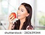 Human Teeth  Smiling  Apple.