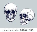 Black And White Human Skull