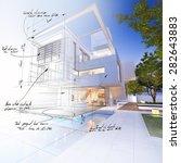 3d rendering of a luxurious... | Shutterstock . vector #282643883
