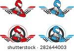 go cart carting racing race... | Shutterstock .eps vector #282644003