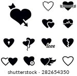 hearts icons | Shutterstock .eps vector #282654350